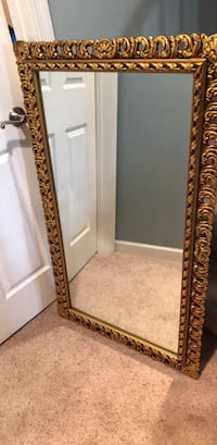 vintage gold frame  mirror for wall, measures 46 x inches  Springfield, 22152