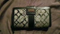 brown and black Coach monogram leather wristlet Cambridge, N1S 4H4