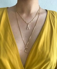Solid gold flat link chain