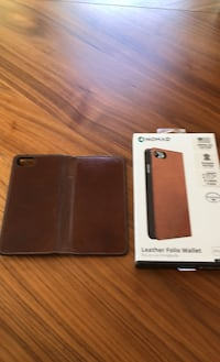 Real leather folio case Used Nomad for new iphone SE