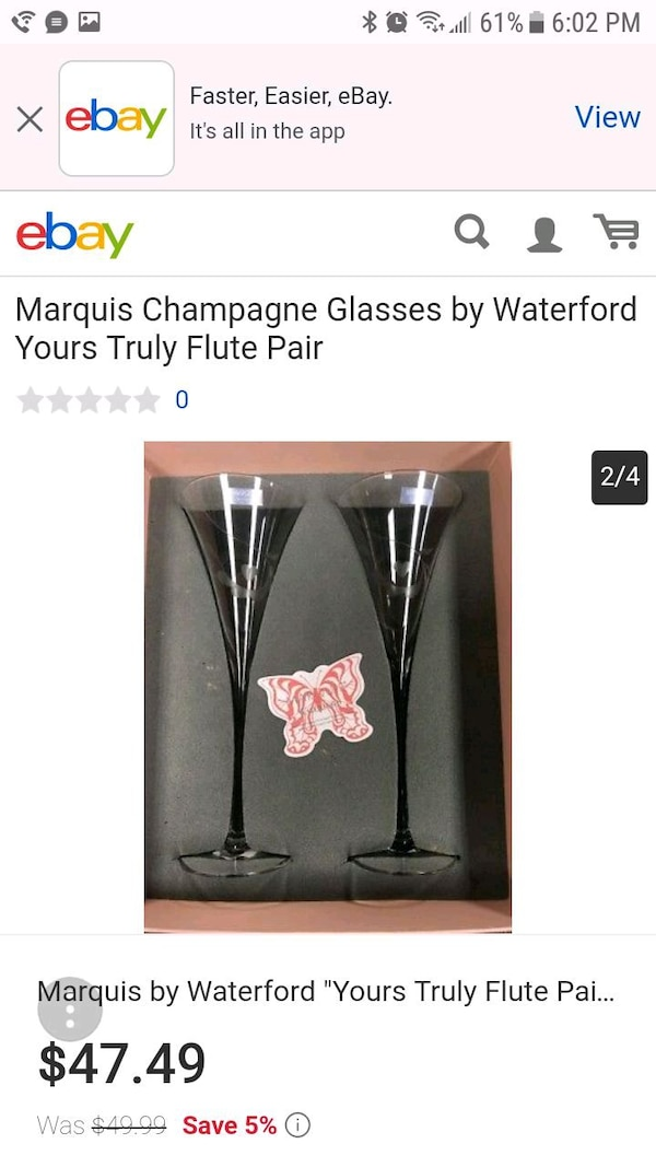 Marquis champagne glasses