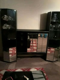black wooden frame glass display cabinet Hamilton Township, 08609