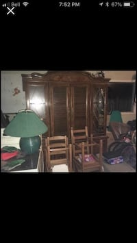 Solid buffet hutch- two piece plus matching dining table no chairs West Lincoln, L0R
