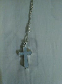 Opal cross pendant with new chain also