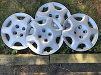 "Honda plastic rim covers 4 bolt. 15"" Good condition. Kitchener, N2A 3M9"