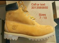 Double sole Timberlands sizes 7 to 13 Forestville