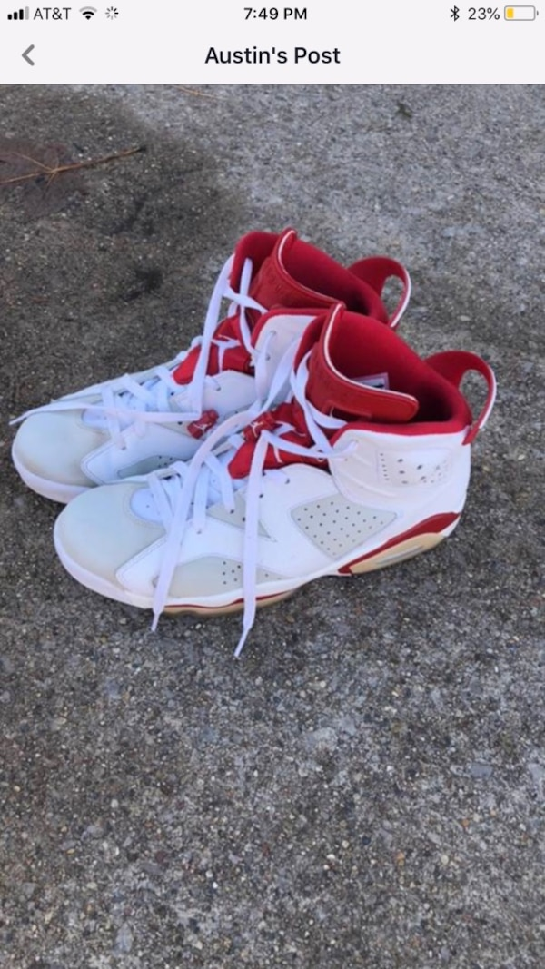 068eccf14e2d64 Used Jordan Retro 6 s Size 12 red white for sale in Saginaw - letgo