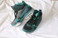 pair of green-and-white Nike basketball shoes Riverside, 92507