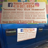Mission Carpentry Outdoor Carpentry Call Or Click Today Mississauga, L5E 1P6