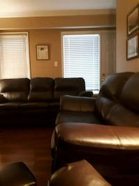 leather 3-seat sofa and love seat