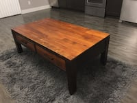 rectangular brown wooden coffee table Vancouver, V5K 1Z8