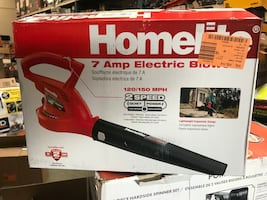 Homelite 150 MPH 233 CFM 7 Amp Electric Leaf Blower/Sweeper