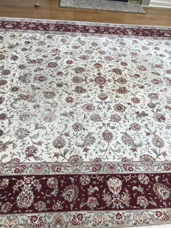 Authentic Silk Persian Rug purchased ABC Carpet in NYC 09ce7a86-82f2-4cb1-a3ba-ede868d45c2c