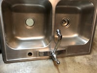 stainless steel double sink with faucet Lake Elsinore, 92530