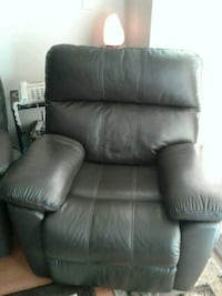 Leather reclining chair and sofa