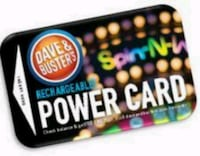 Loaded Dave and Busters Card 1540 Game Chips + 75k Tickets Virginia Beach, 23451