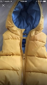brown and blue zip-up bubble jacket Royersford, 19468