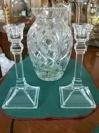 Big crystal vase and 2 candle holders Laval, H7G 2W7