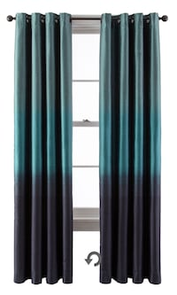 """95"""" inch curtain panel - teal color"""