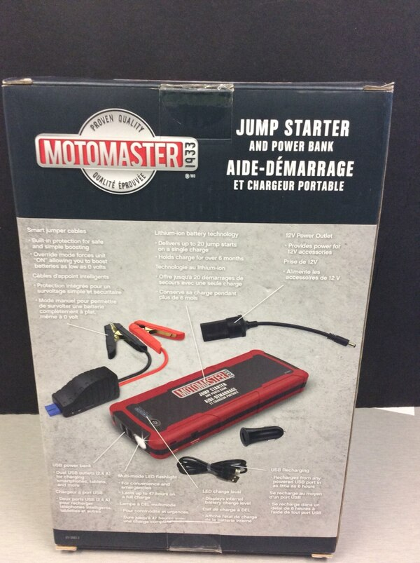 Motomaster Jump starter and power bank New! 6c82a0a5-3df7-4c01-aafb-f69a4535cd13