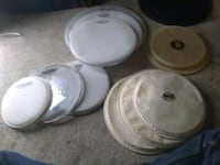 9 drum heads and vic firth practice pads Calgary, T2A 0L4