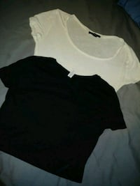 black and white round-neck crop tops Los Angeles, 90011