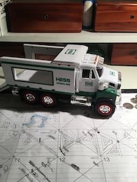 White and green Hess truck scale model