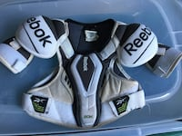 white and black Reebok shoulder pads Toronto, M3H 2S9
