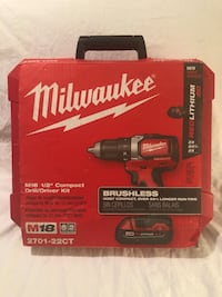 Brand new in the case Milwaukee M18 brushless drill driver tool kit. Retails for $199  2374 mi