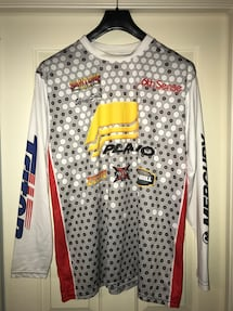 SHANE SMITH MEN'S XL LONG SLEEVE PLANO MERCURY TRITON FISHING SHIRT