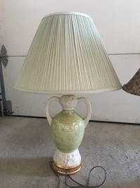 Cream shade lamp with light green base  Vaughan, L4L 5G2