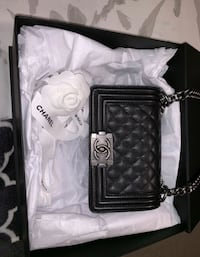 black and gray leather crossbody bag Las Vegas, 89148