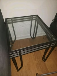 14x14 glass end table  Alexandria, 22311