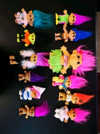 Lot Of 12 Vintage Trolls Dolls by Russ  Yonkers