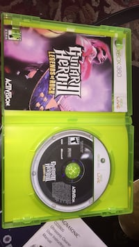 Xbox 360 Guitar Hero 3 game disc with case Washington, 20011