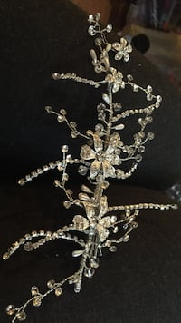 Silver and diamond studded pendant necklace Chilliwack, V2P 2S6