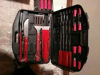 red and black kitchen tool set Evansville, 47711