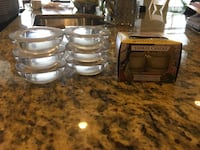 Yankee candle Christmas cookie tea light candles (12) and glass holders (6) Bristow, 20136