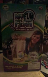 My fun fish cleaning tank clean water in dirty water out