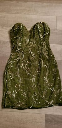 Scala olive green sequin and bead dress Toronto, M6K 0B3