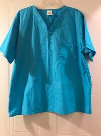 New used! Blue Scrub Top-Size: Large