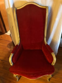red and white padded armchair South Euclid, 44121