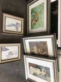 Five art pictures and frames only $39