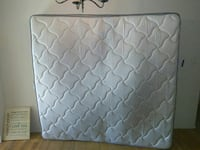 quilted white and gray mattress Evans, 30809