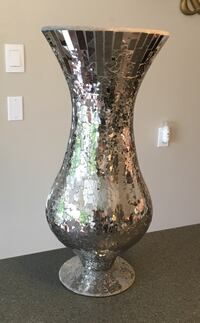 "Glass mosaic vase 18""tall Langley, V1M 2E6"