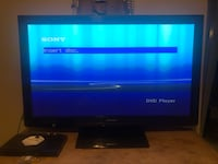 black flat screen TV with remote North Highlands, 95660