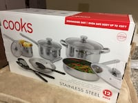12 Piece Stainless Steel Cookware Set   Brand New In The Box  Las Vegas, 89108
