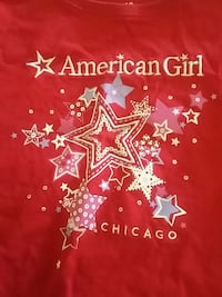 American Girl red T shirt size L (14/16) Doral, 33178