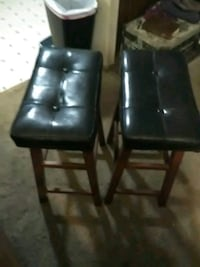 Two bar stools leather seats Edgefield, 29824