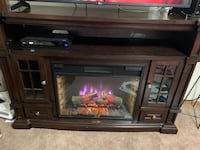 Dark ebony fireplace and tv stand 70 plus inches  Fridley, 55432